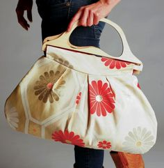 repurposed Japanese obi bags