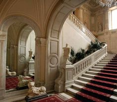Grand Staircase of Yusupov Palace. Saint Petersburg, Russia.