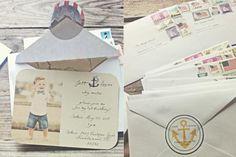 Vintage Nautical Invitations