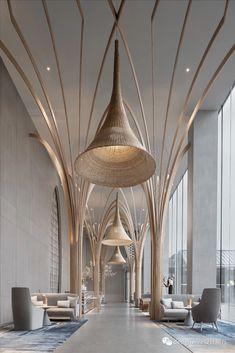 restaurant interieur Discover all the design news - Design Room, Design Entrée, Lounge Design, Design Trends, Blog Design, Design Ideas, Lounge Decor, Hotel Lobby Design, Modern Hotel Lobby