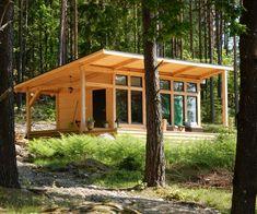 Attefallshus Lindköping I — Swedish Timber Frame Tiny House Cabin, Tiny House Design, Cabin Homes, Small Cabin Designs, Timber Frame Cabin, Timber House, Timber Frames, Small Lake Houses, Tiny Houses