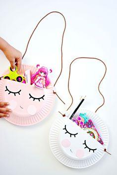 Summer kid activity: Make Cute Sleepy eye paper plates!