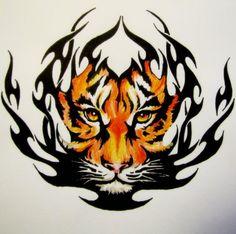 Tribal Tiger by BekkaTora