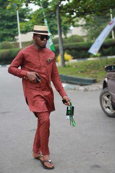 """Lagosian style is like a fingerprint,"" says the designer Adebayo Oke-Lawal. ""No one's is the same."" Lagos Fashion and Design Week—Photo: Courtesy of Lagos Street Style // #FashionCapitals #Lagos #globalfashblogs"