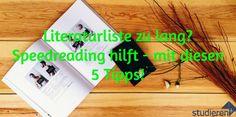 Zu viel Stoff für die Hausarbeit zu lesen? Mit diesen 5 Tipps zum Speed Reading kein Problem!
