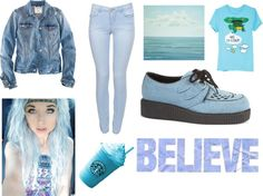 """""""blue"""" by annagreen ❤ liked on Polyvore"""