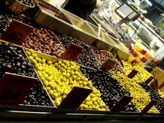 The Olive Department, Mahane Yehuda Market, Jerusalem, Israel