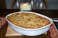 Traditional Cornbread Dressing. Photo by Fauve