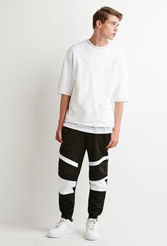 Contrast-Paneled Sweatpants | 21 MEN - 2000173320