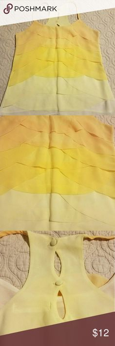 Yellow ombre tank top Beautiful yellow ombre top. Great condition perfect for going out! Fashionomics Tops Tank Tops