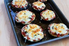 Recipe for Julia Child's Eggplant Pizzas (Low-Carb, Gluten-Free) | Kalyn's Kitchen®