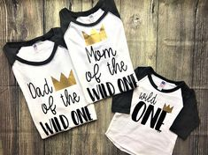 Dad of the Wild One Shirt, Mom of the Wild One shirt // where the wild things are shirt, queen of the wild things, wild one, wild things #firstbirthday #kidsfashion #affiliate