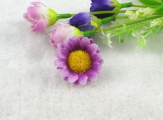 48pcs Silk Gerbera Daisy Flower Heads Wedding Party Decoration Favour (Purple) *** Want additional info? Click on the image.