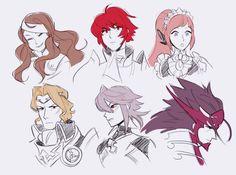 Fire Emblem If characters: Kazahana, Hinoka, Felicia, Marx, Male Kamui, & Ryouma