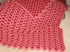 "Update: This pattern is now also available in a new book called ""Reversible Ripple Afghans"". It is available in PDF download at Annie's Attic."