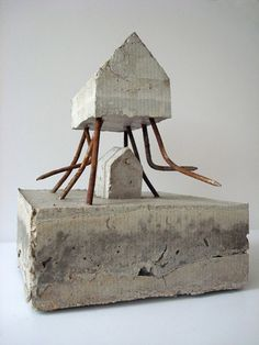 M - 1 Concrete and nails, sculpture Sharon Pazner