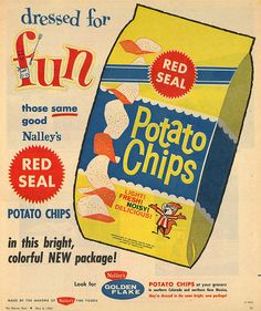 Nalley's Red Seal Potato Chips, from the Denver Post, May 6, 1962.