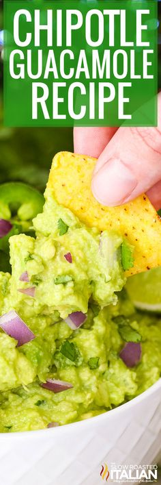 This Chipotle guacamole recipe tastes just like the restaurant version! Recreate it at home with fresh ingredients at a fraction of the cost. Best Appetizers, Appetizer Recipes, Party Appetizers, Chipotle Restaurant Recipes, Chipotle Guacamole Recipe, Avocado Recipes, Homemade Chicken And Dumplings, Copycat Recipes, Dip Recipes