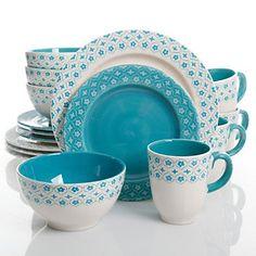 Gibson Home General Store Cottage Chic 16-pc. Dinnerware Set  sc 1 st  Pinterest & image of Dansk® Classic Fjord Dinnerware in Nordic Blue | Dinnerware ...