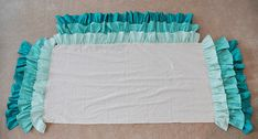 Ruffled Waterfall Cribskirt  with instructions; 1 yd each ruffle and 2 1/8 yd for flat crib part +( 16 x 28 for end piece , and 16 x 52 for front piece w/ no ruffle on the back)