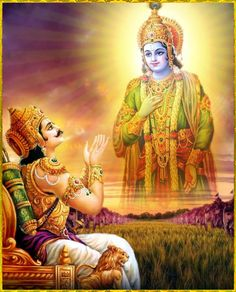 """SHRI KRISHNA & ARJUNAArtist: Indra Sharma Shri Krishna said:""""The Absolute Truth is the objective of devotional sacrifice, and it is indicated by the word sat. The performer of such sacrifice is also called sat, as are all works of sacrifice, penance and charity which, true to the absolute nature, are performed to please the Supreme Person, O son of Pritha.""""~Bhagavad Gita 17.26-27Please listen to """"Bhagavad Gita as it is"""" online: http://gitopanishad.com/"""