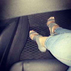 Summer grey sandals