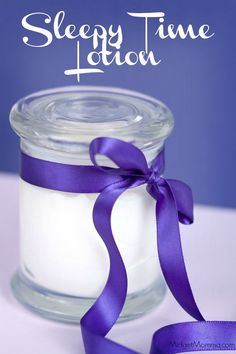 Sleepy Time Lotion. Make this lotion to help you relax and get some sleep. Made with coconut oil it is also good for your skin.
