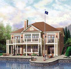 Ebeach house uropean   House Plan 64813