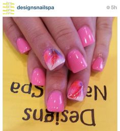 """Nothing says """"girly"""" like pink nails! """"Re-pin"""" and """"Like"""" if you love pink nails!"""
