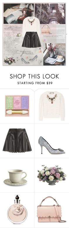 """""""Listening to Chopin's Nocturnes"""" by olivochka ❤ liked on Polyvore featuring Paul & Joe, Prada, Gucci, RED Valentino, Dolce&Gabbana, Arte Italica, Allstate Floral and Fendi"""