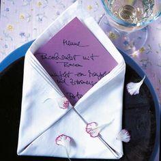 Tischkärtchen Menükarten Ideen Zum Selbermachen