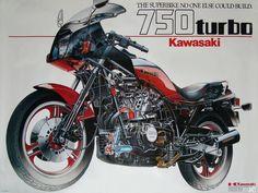 GPZ 750 Turbo Kawasaki Motorbikes, Kawasaki Motorcycles, Touring Motorcycles, Cars And Motorcycles, Rock A Bye Baby, Retro Motorcycle, Mini Bike, Bike Parts, Classic Bikes