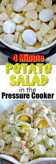 Kick off the summer season with this delicious creamy potato salad using a pressure cooker - save time by steaming the potatoes and eggs together in just 4 minutes!