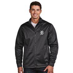 Detroit Tigers Antigua Golf Full-Zip Jacket - Charcoal