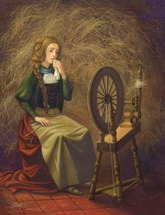 "Ksenia Kareva Illustrations for ""Tales of the Brothers Grimm"" Rumpelstiltskin, Rapunzel, Story Tale, Ladybird Books, Brothers Grimm, Fairytale Art, Illustrations, Fairy Tales, Fairies"