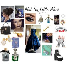 Not So Little Alice by rfair on Polyvore featuring polyvore, fashion, style, Dolce&Gabbana, REGALROSE, Disney, Hot Topic, Torrid and clothing