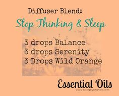DONE / Stop Thinking & Sleep diffuser blend