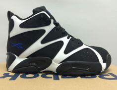 BOYS & GIRLS REEBOK KAMIKAZE I MID BLACK BLUE NEW BASKETBALL SNEAKERS ATHLETIC #Reebok #Athletic