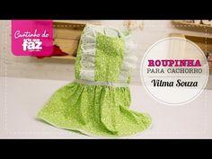 DIY - Roupinha para cachorro (Vilma Souza) - YouTube