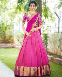 Half Saree Lehenga, Lehenga Saree Design, Saree Look, Saree Dress, Sari, Lehenga Choli Latest, Wedding Saree Blouse Designs, Half Saree Designs, Lehenga Designs Latest