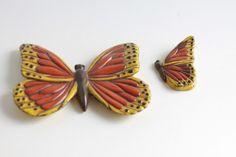 Vintage 1970's Ceramic Prod Inc Butterflies pair of by Fleaosophy, $20.00