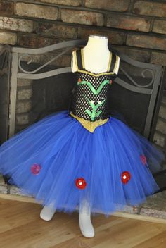 Princess Anna Inspired Tutu from Frozen Dress by OurSweetSomethings4U on Etsy, $55.00