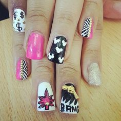 Bling Blunt // Weed-Inspired Nail Art Ideas