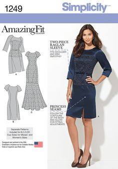 We've done the fitting for you - with customized pattern pieces designed to fit your shape! Design your look to include a lace overlay for a special occasion dress that's sure to impress. Simplicity pattern 1249 is available in Misses' and Plus Sizes.