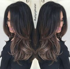 Are you looking for dark winter hair color for blondes balayage brunettes? See our collection full of dark winter hair color for blondes balayage brunettes and get inspired! Hair Color And Cut, Dark Hair With Color, Brunnete Hair Color, Dark Fall Hair Colors, Color Black, Hair Highlights, Gorgeous Hair, Hair Looks, New Hair