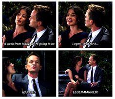 legen-married #HIMYM #Robin #Barney