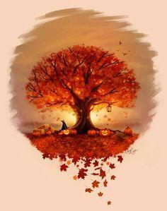 October autumn Halloween Pictures, Fall Pictures, Halloween Art, Holidays Halloween, Vintage Halloween, Happy Halloween, Halloween Scene, Halloween Pumpkins, Autumn Photos