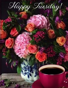 Happy Tuesday Morning, Morning Pictures, Morning Pics, Tuesday Images, Good Morning Beautiful Flowers, Spark People, Months In A Year, Good Morning Quotes, Hot Chocolate