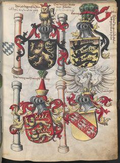 Grünenberg, Konrad: Das Wappenbuch Conrads von Grünenberg, Ritters und Bürgers zu Constanz um 1480 Cgm 145 Folio 14