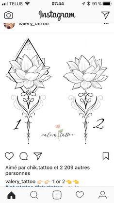 15 ideas tattoo lotus lotto for 2019 Lotusblume Tattoo, Tatoo Henna, Lotus Tattoo, Mandala Tattoo, Back Tattoo, Tattoo Drawings, Mini Tattoos, Love Tattoos, Beautiful Tattoos
